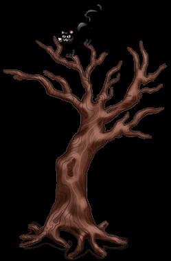 Halloween verdrehter Baum