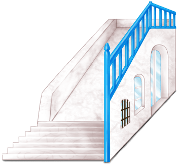 Griechenland Treppenhaus Block 2