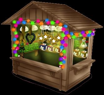 Weihnachtsmarkt Hütte
