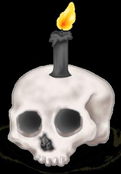 Halloween Schädel Kerze