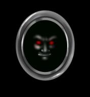 Vampir-Gesichtsspiegel