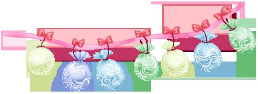 Girlande steigt Hochzeitstorte im Ballon auf