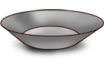 Graue Platte