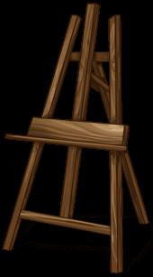 Staffelei des Malers