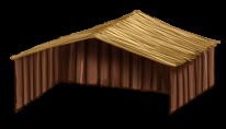 Hölzerne Maisonette