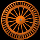 Orange Hintergrundrad