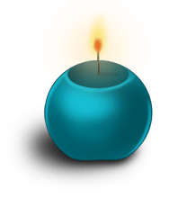 Runde Kerze