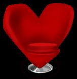Herz Stuhl