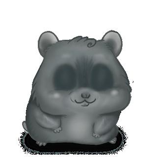 Adoptiere einen Hamster Widder grau