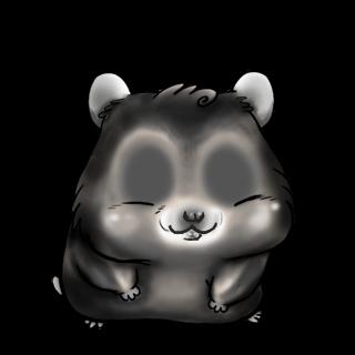 Adoptiere einen Hamster Schwarz und weiß