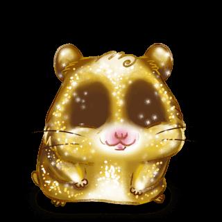 Adoptiere einen Hamster Goldener Glitzer