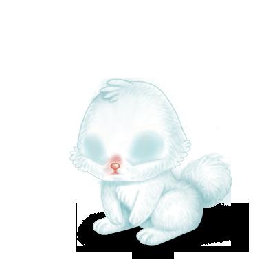 Adoptiere einen Kaninchen Schnee