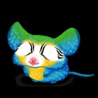 Adoptiere einen Maus Blauer Ara