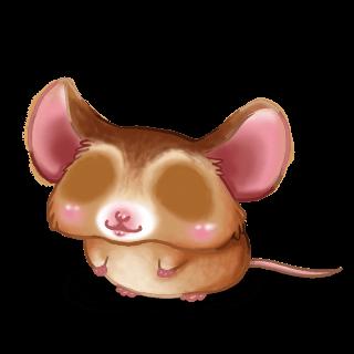 Adoptiere einen Maus Goldbeige