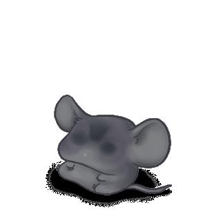 Adoptiere einen Maus Widder grau