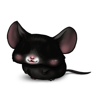 Adoptiere einen Maus Schwarz