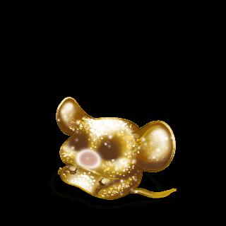 Goldener Glitzer