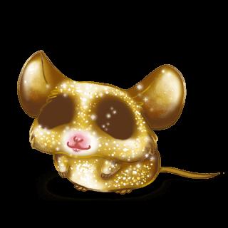 Adoptiere einen Maus Goldener Glitzer