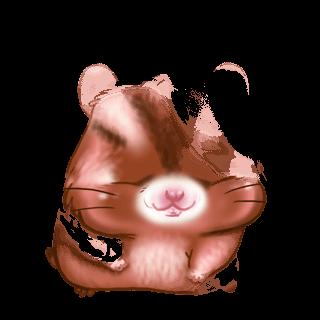 Adoptiere einen Hamster Beige und Schwarz