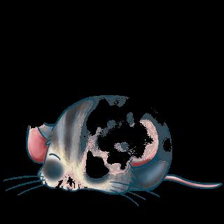 Adoptiere einen Maus Blaues Grau