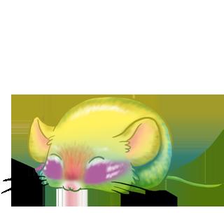 Adoptiere einen Maus Beige und Schwarz